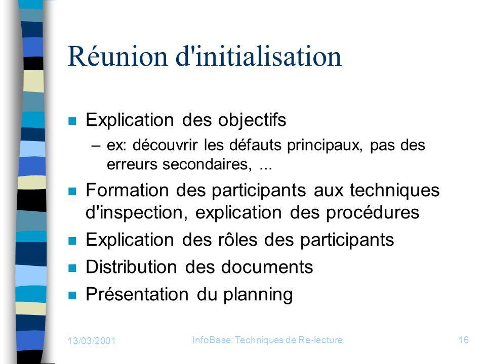 Réunion d initialisation