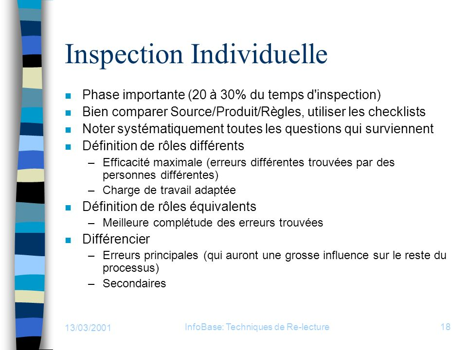Inspection Individuelle