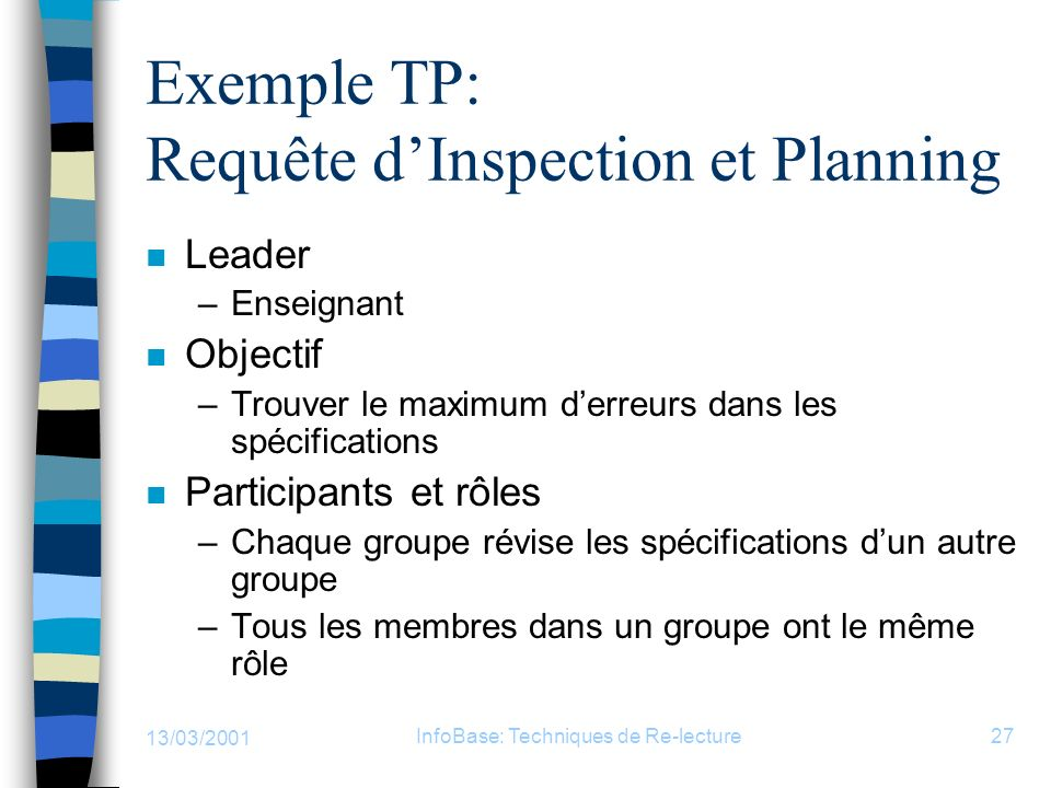 Exemple TP: Requête d'Inspection et Planning