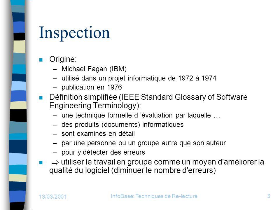 InfoBase: Techniques de Re-lecture