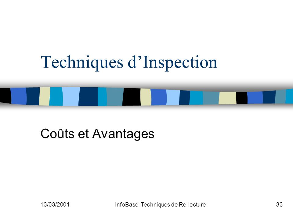 Techniques d'Inspection