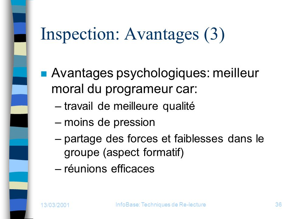Inspection: Avantages (3)