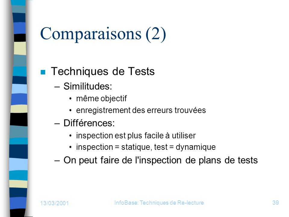 InfoBase: Techniques de Re-lecture