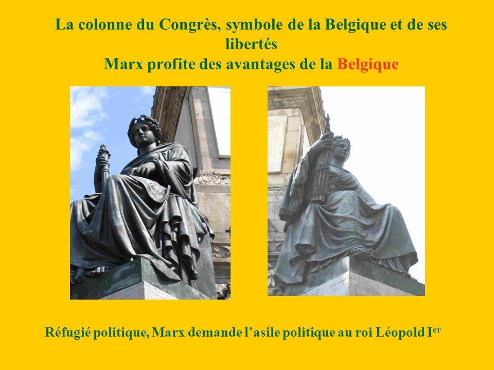 Réfugié politique, Marx demande l'asile politique au roi Léopold Ier