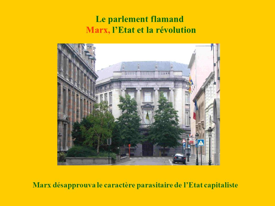 Le parlement flamand Marx, l'Etat et la révolution