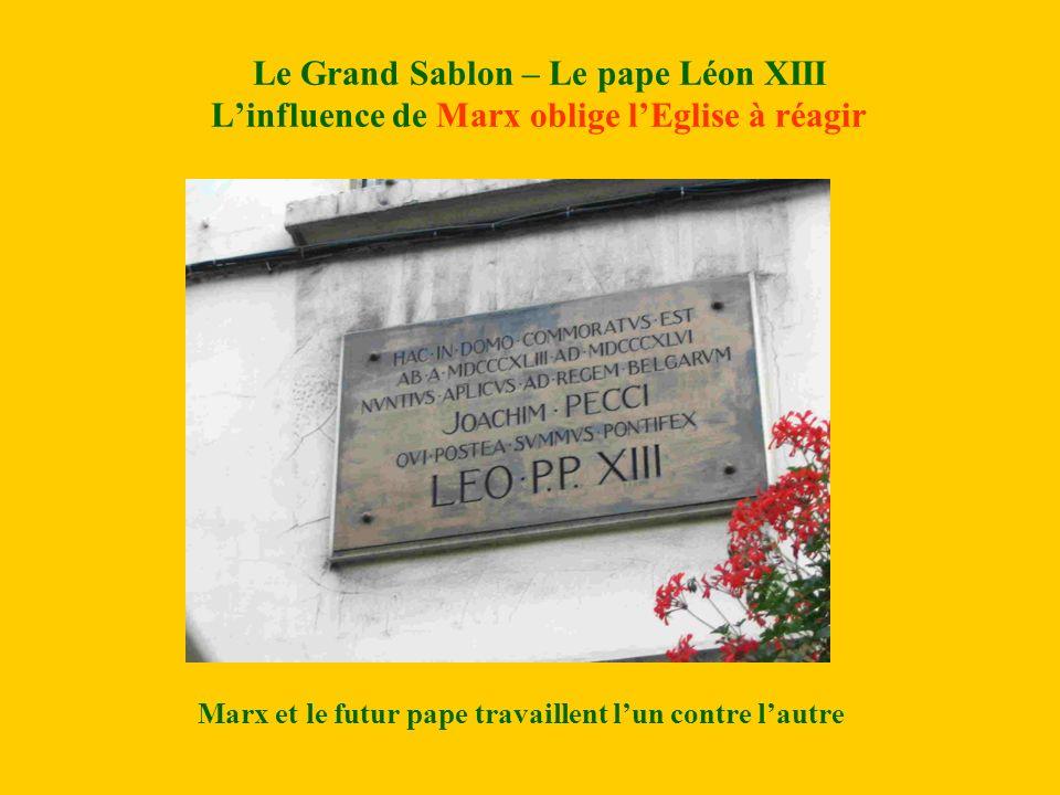 Marx et le futur pape travaillent l'un contre l'autre