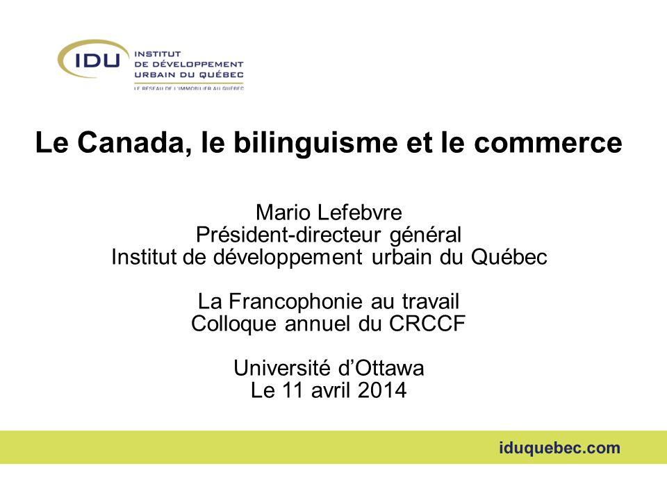 Le Canada, le bilinguisme et le commerce