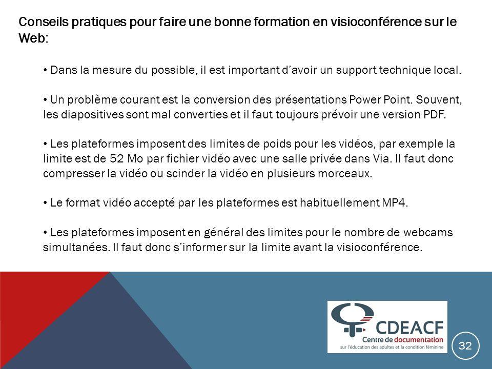 Conseils pratiques pour faire une bonne formation en visioconférence sur le Web: