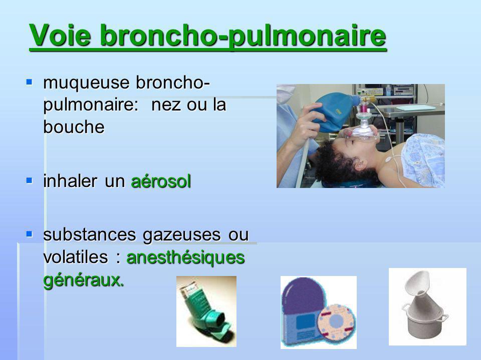 Voie broncho-pulmonaire