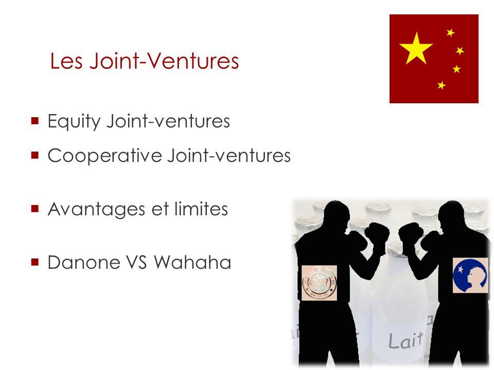 Les Joint-Ventures Equity Joint-ventures Cooperative Joint-ventures