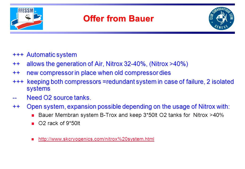 Offer from Bauer +++ Automatic system