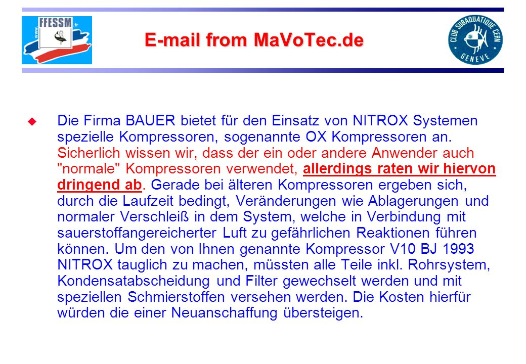 E-mail from MaVoTec.de