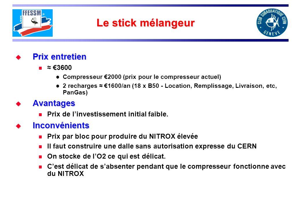 Le stick mélangeur Prix entretien Avantages Inconvénients ≈ €3600