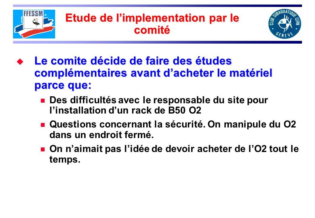 Etude de l'implementation par le comité