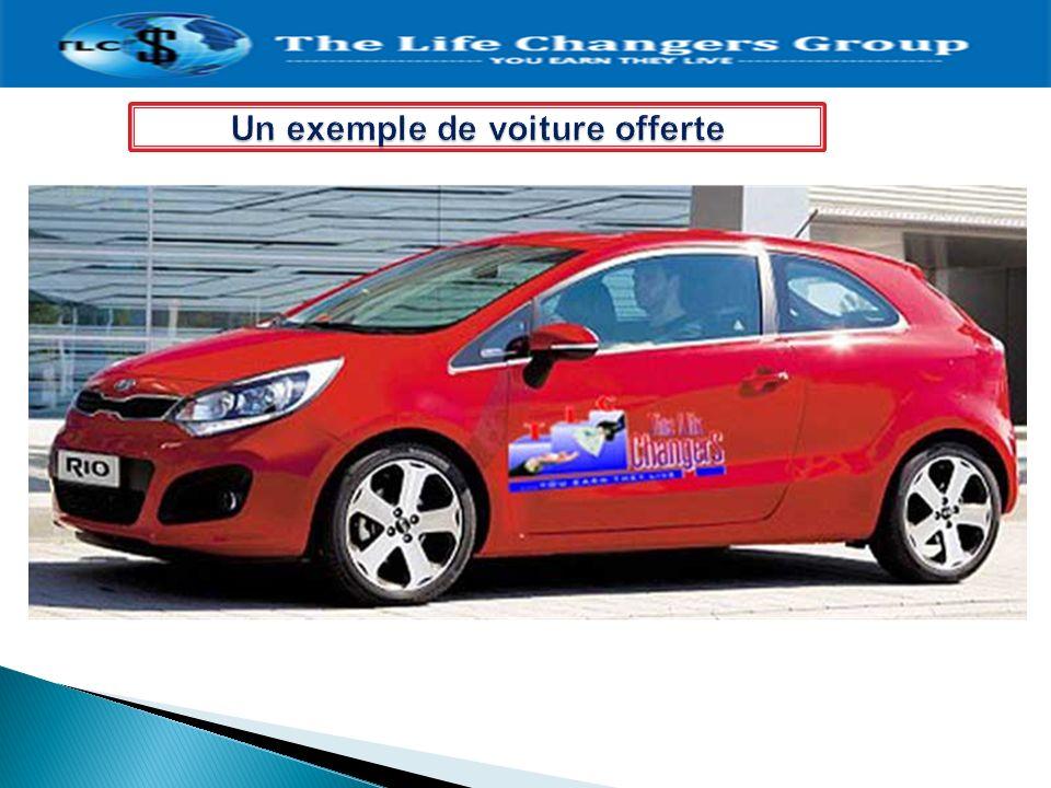 Un exemple de voiture offerte