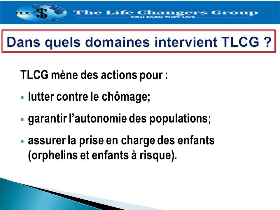 Dans quels domaines intervient TLCG