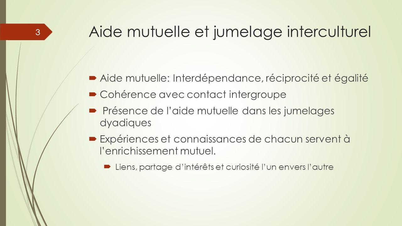 Aide mutuelle et jumelage interculturel
