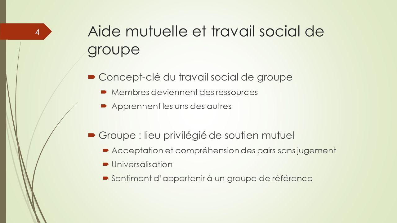 Aide mutuelle et travail social de groupe