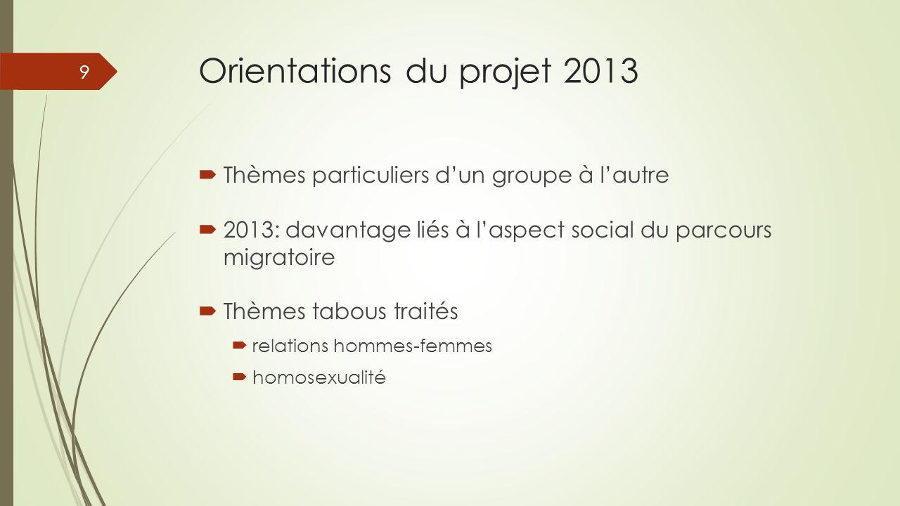 Orientations du projet 2013