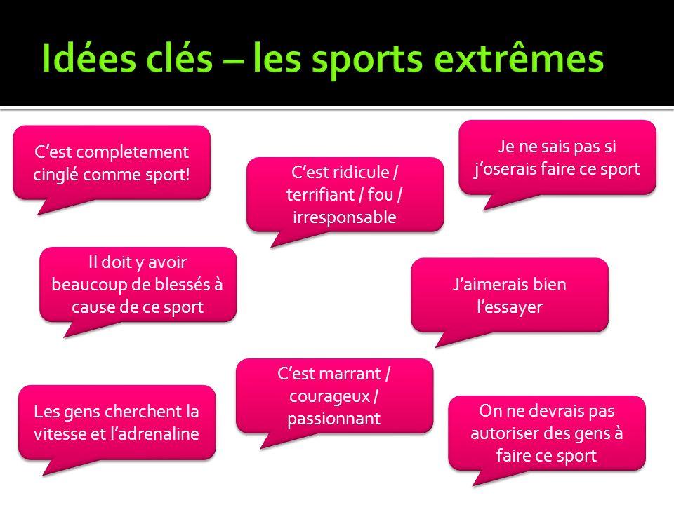 Idées clés – les sports extrêmes