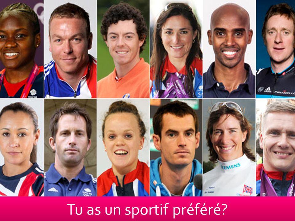 Tu as un sportif préféré