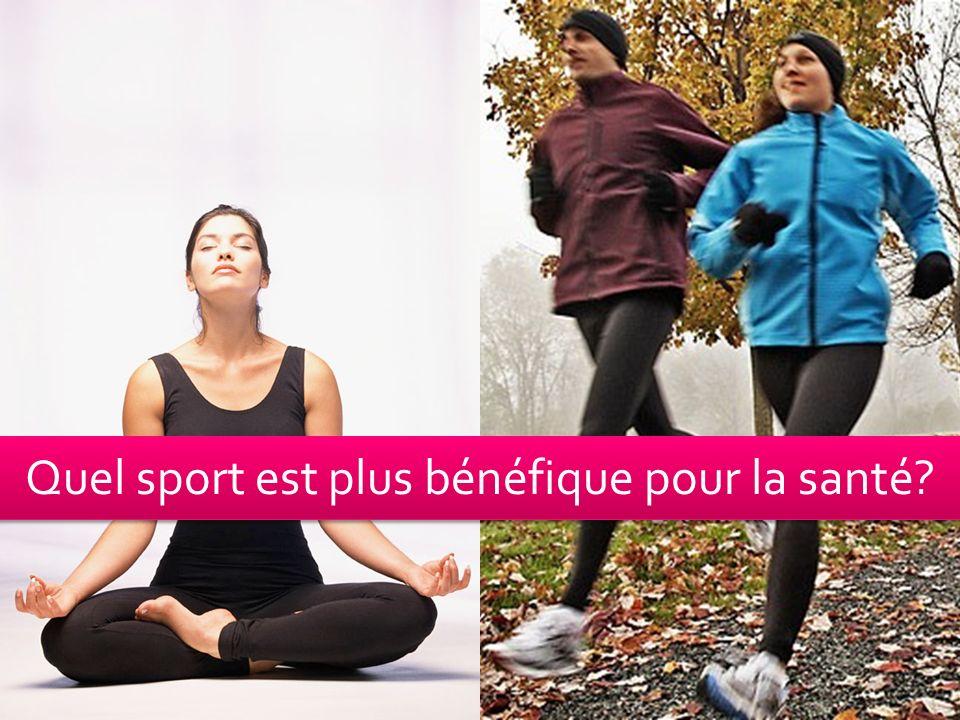 Quel sport est plus bénéfique pour la santé