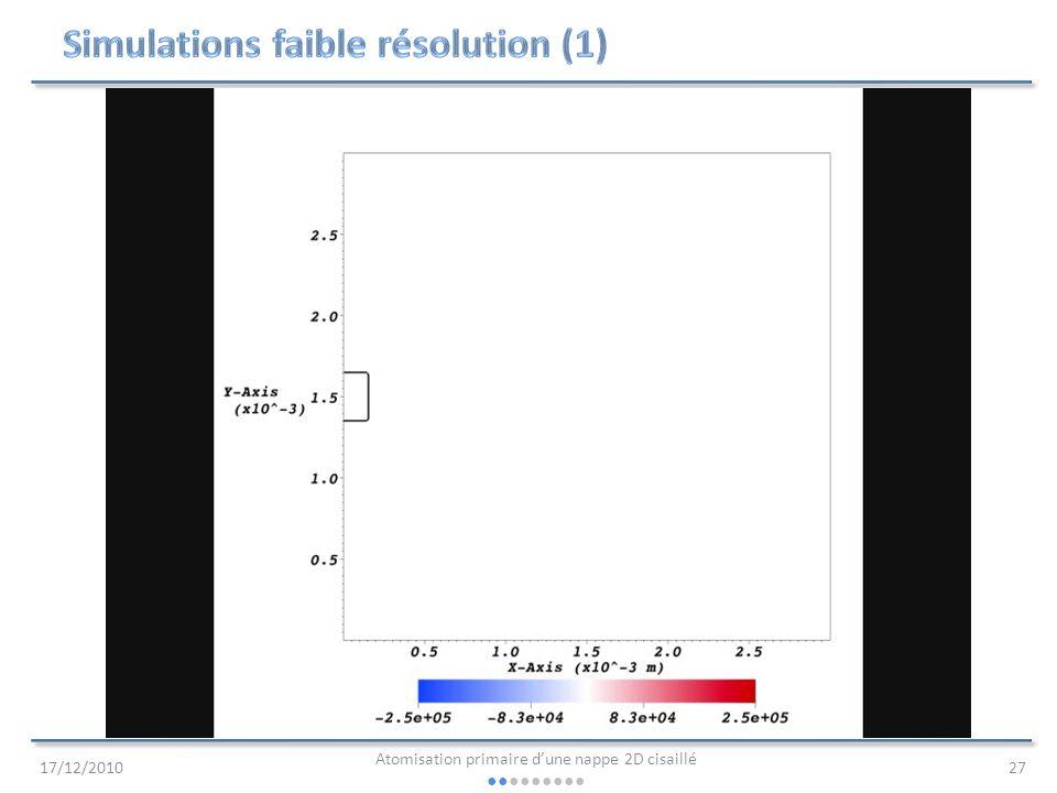 Simulations faible résolution (1)