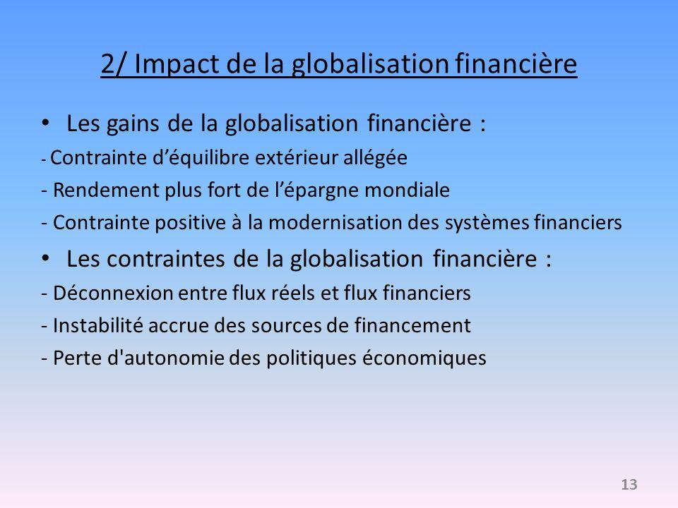2/ Impact de la globalisation financière