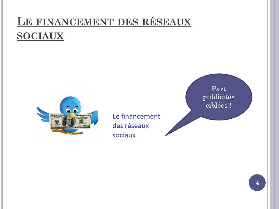 Le financement des réseaux sociaux