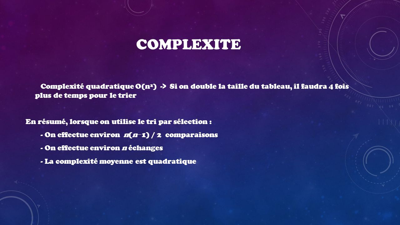 COMPLEXITE