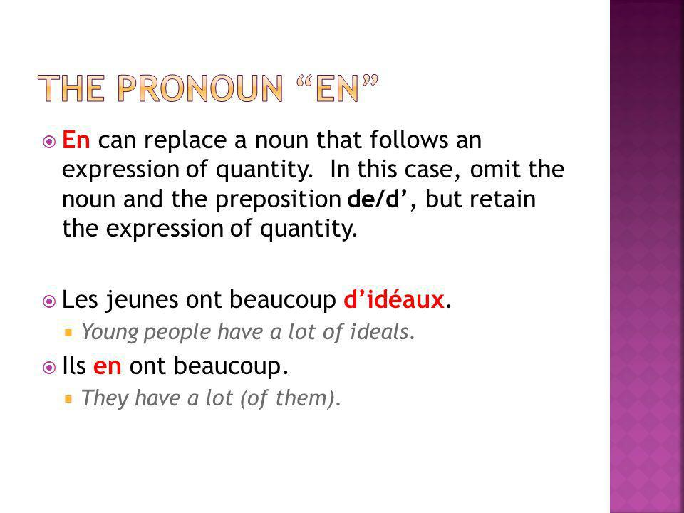 the pronoun en