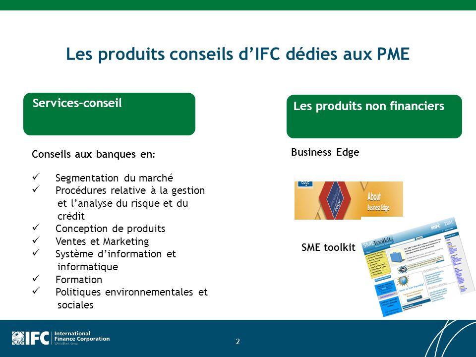 Les produits conseils d'IFC dédies aux PME