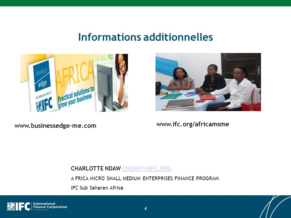 Informations additionnelles