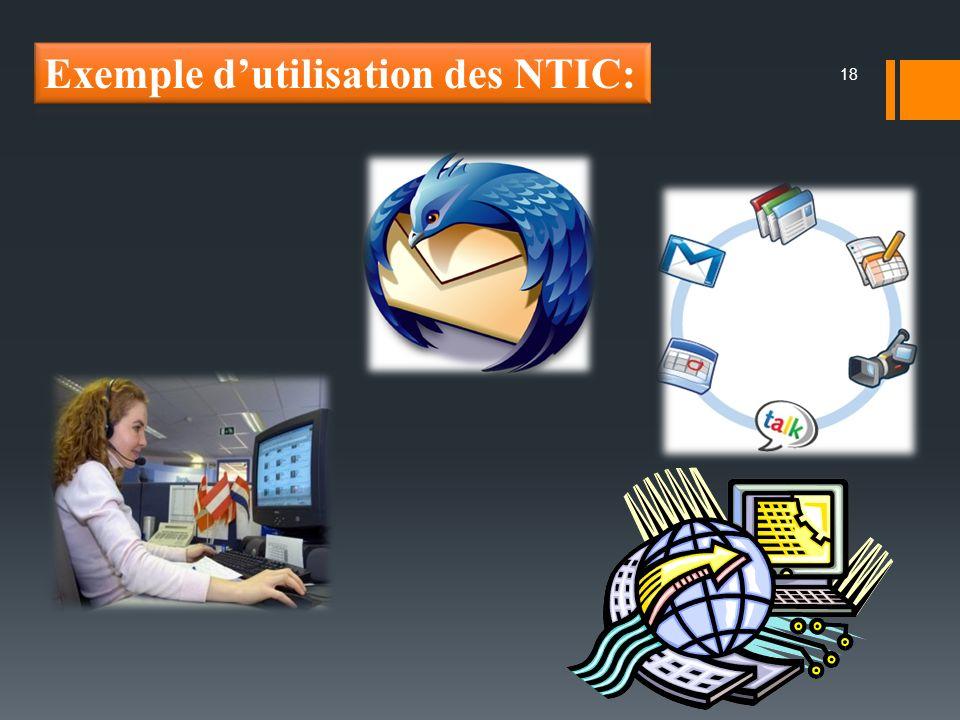 Exemple d'utilisation des NTIC: