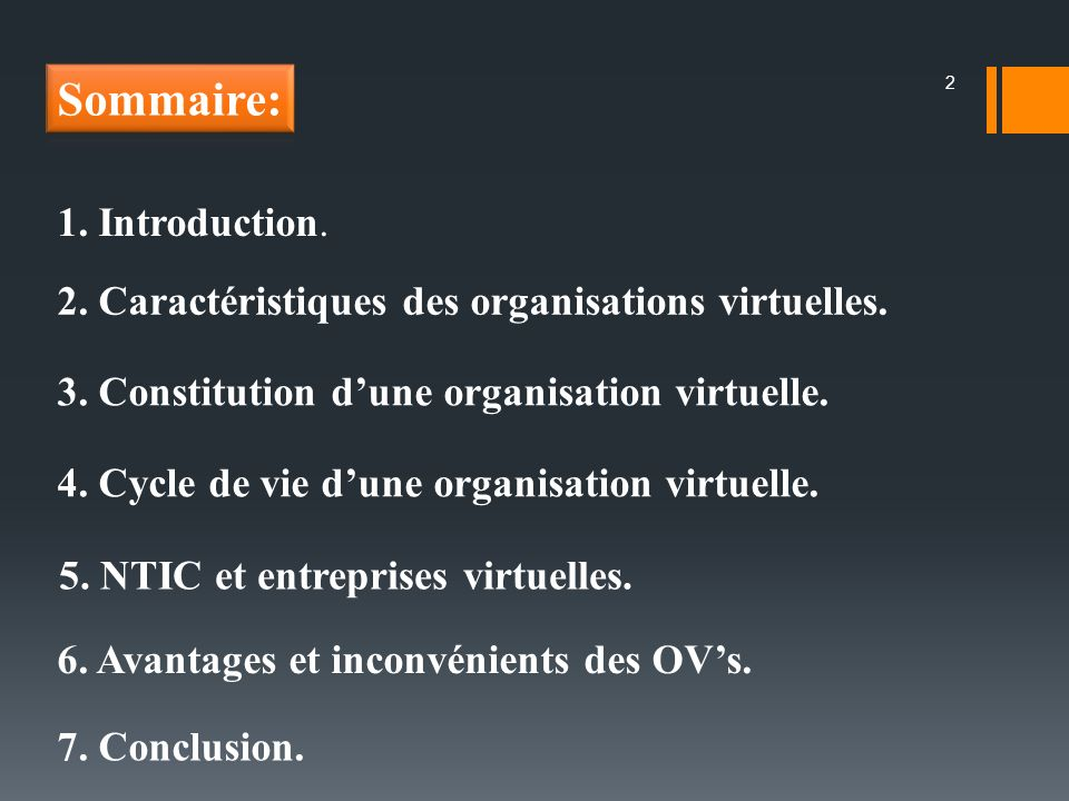 Sommaire: 1. Introduction.
