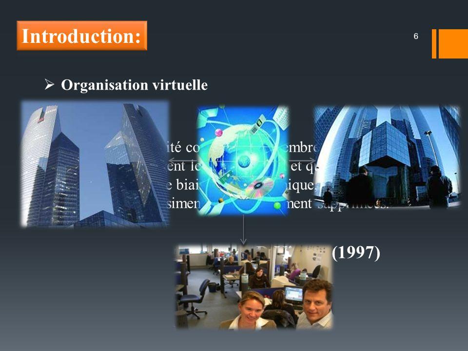 Introduction: D.Kiosur (1997) Organisation virtuelle