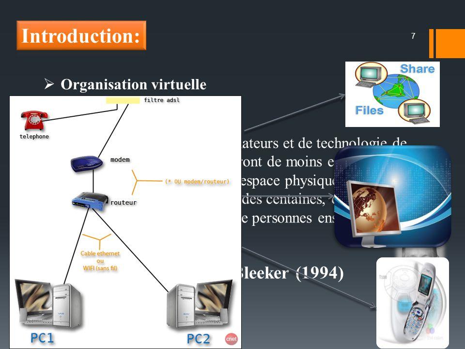 Introduction: S.Bleeker (1994) Organisation virtuelle
