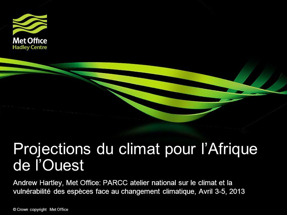 Projections du climat pour l'Afrique de l'Ouest