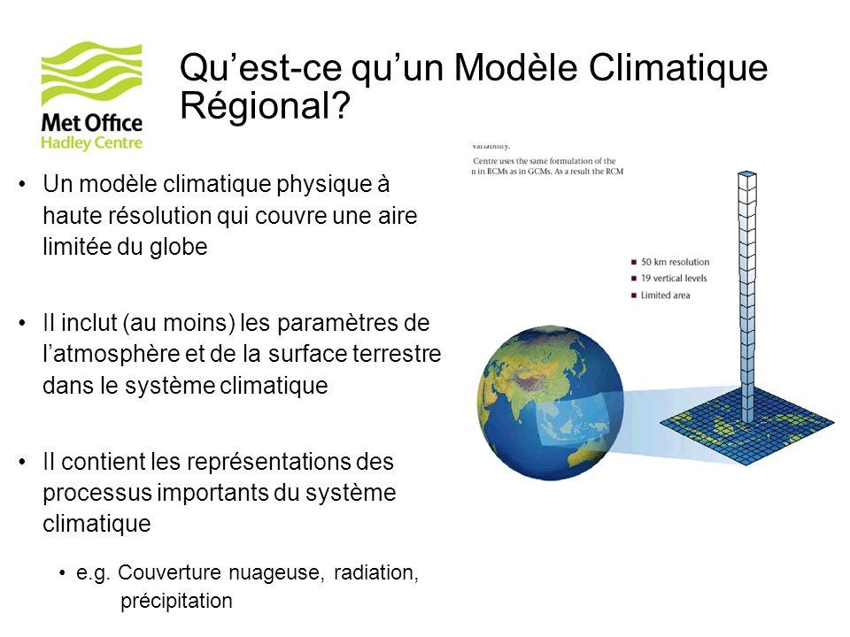 Qu'est-ce qu'un Modèle Climatique Régional