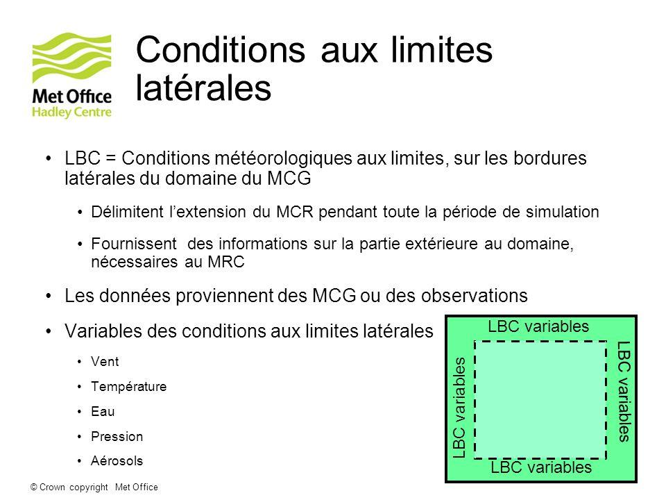 Conditions aux limites latérales