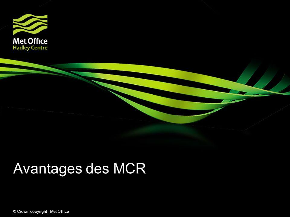 Avantages des MCR