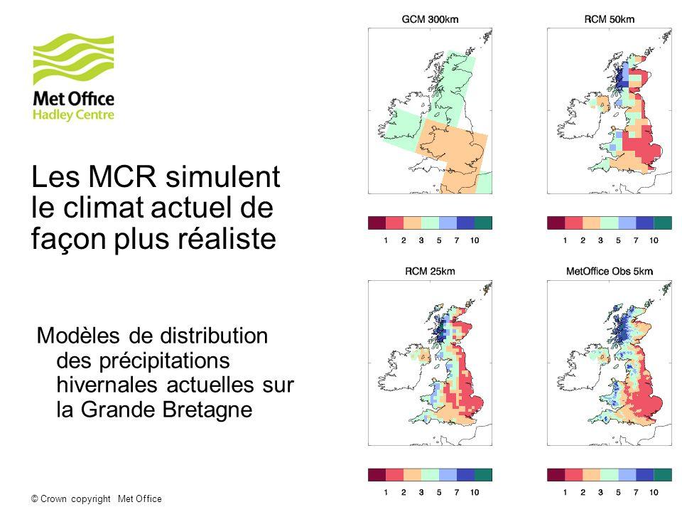 Les MCR simulent le climat actuel de façon plus réaliste