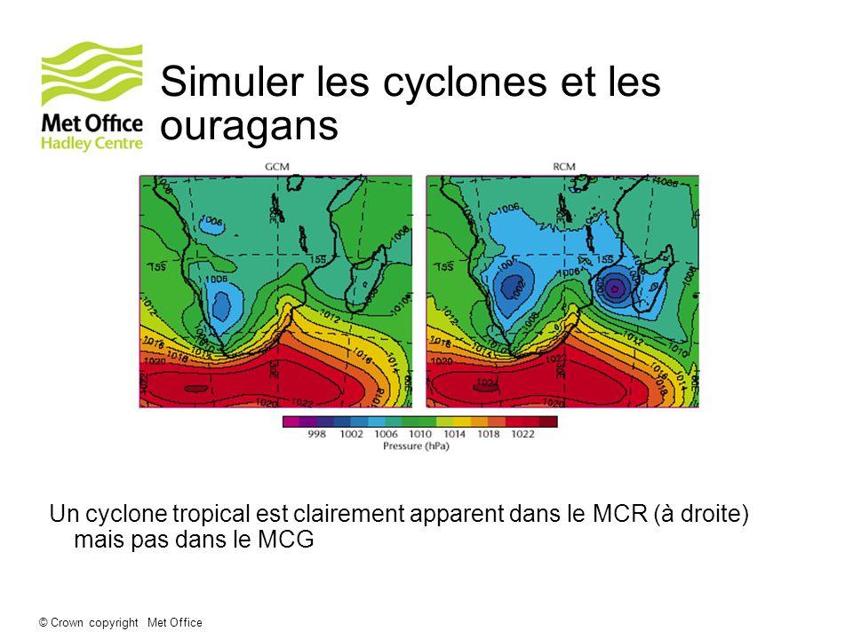 Simuler les cyclones et les ouragans