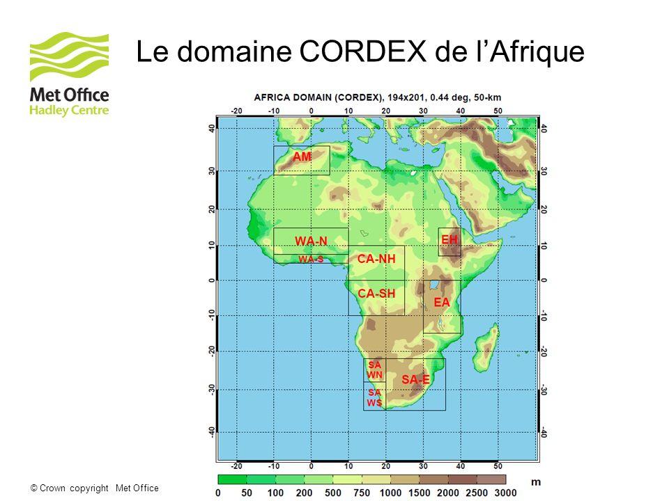 Le domaine CORDEX de l'Afrique