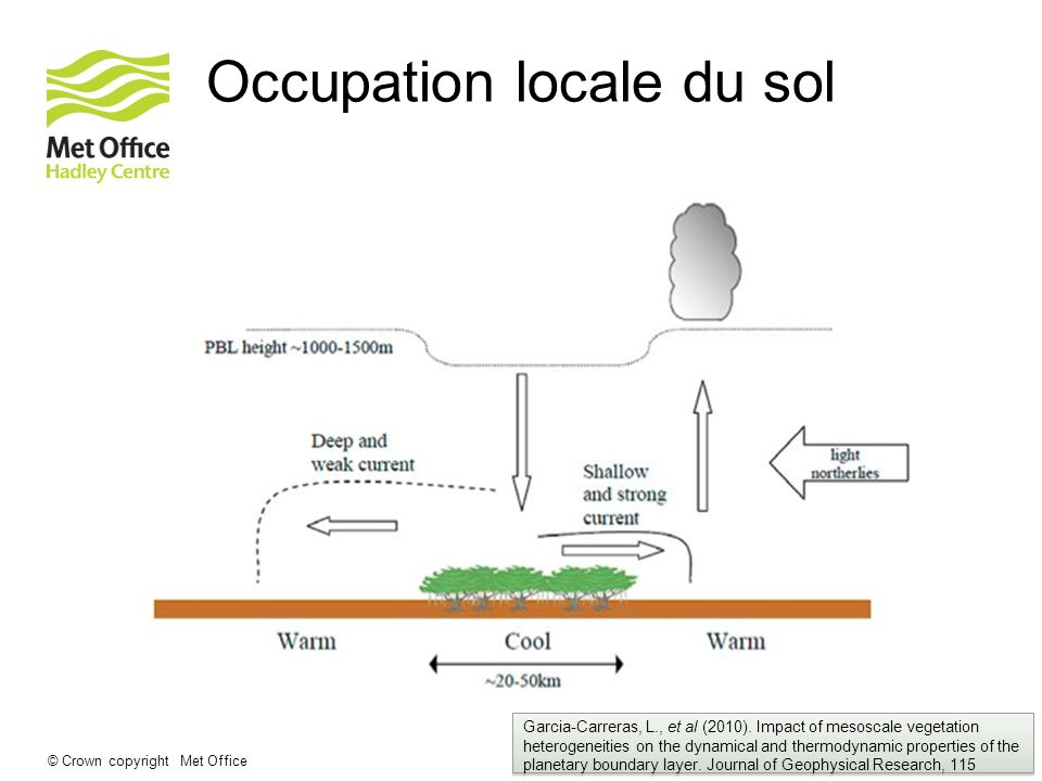 Occupation locale du sol