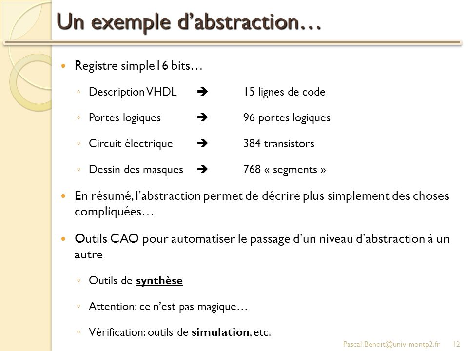 Un exemple d'abstraction…