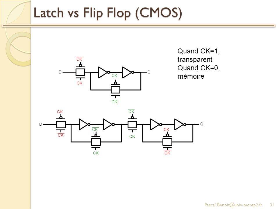 Latch vs Flip Flop (CMOS)