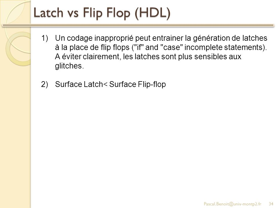 Latch vs Flip Flop (HDL)