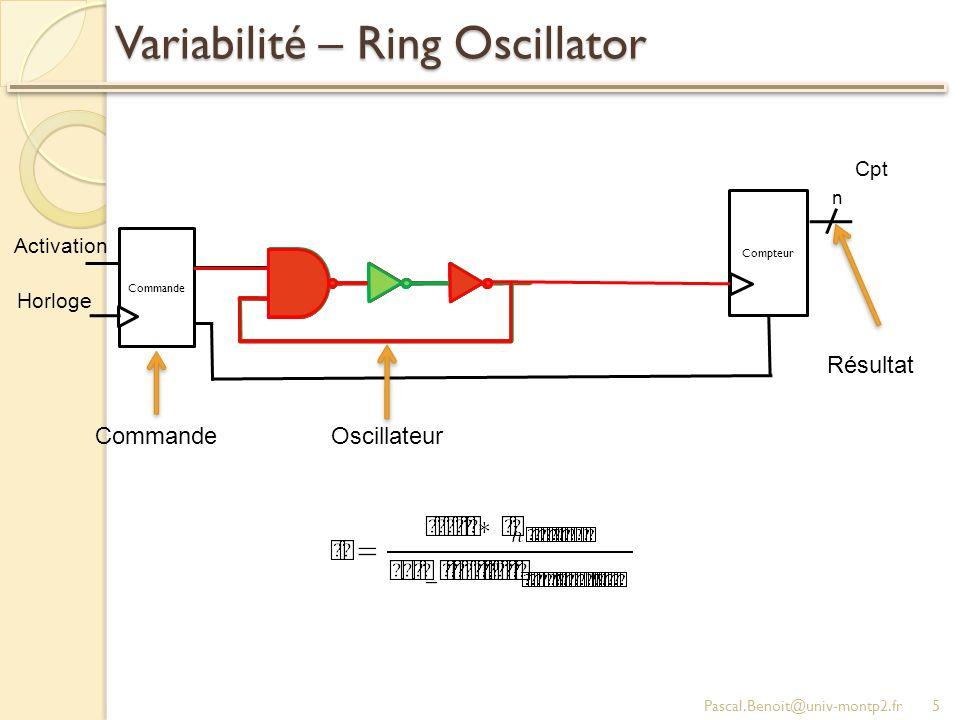 Variabilité – Ring Oscillator