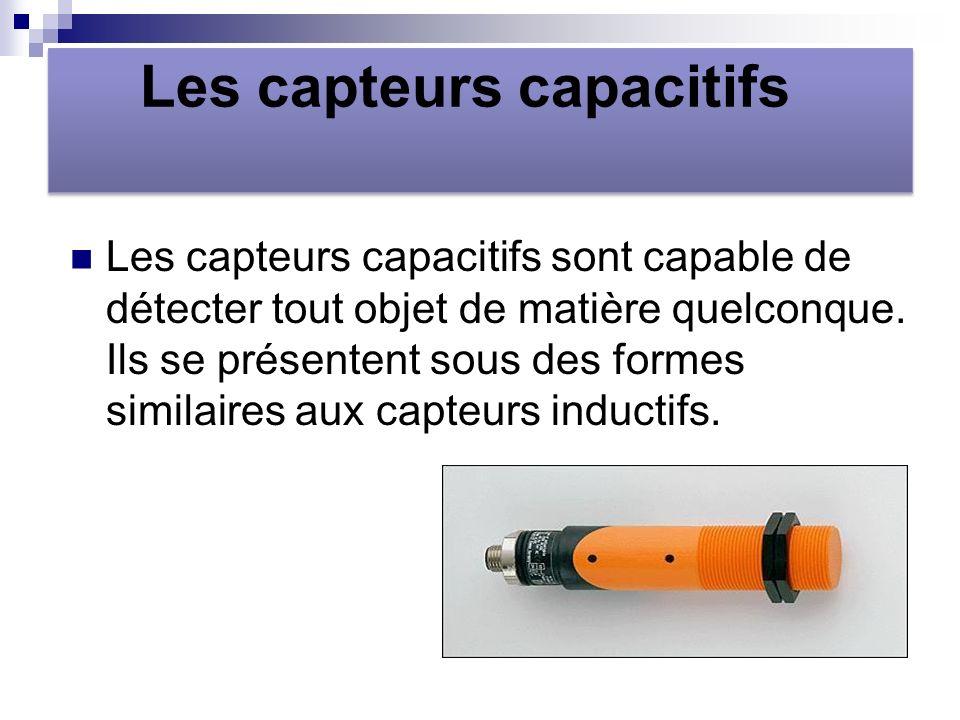 Les capteurs capacitifs